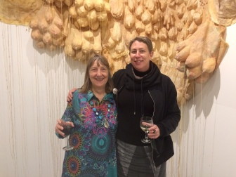SPOM Carol J Adams and me in front of boobscapes