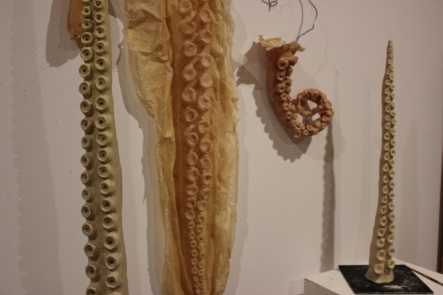 Tentacles - plasticine moulds and latex casts - works in progress
